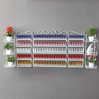 New Arrival Multiple Size Iron Nail Polish On The Wall Shelf Display Cabinet Shelf Cosmetics Shop