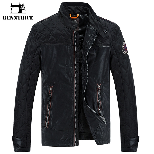Online Shop KENNTRICE Biker Jacket Pilot Black Coat Punk Leather ...