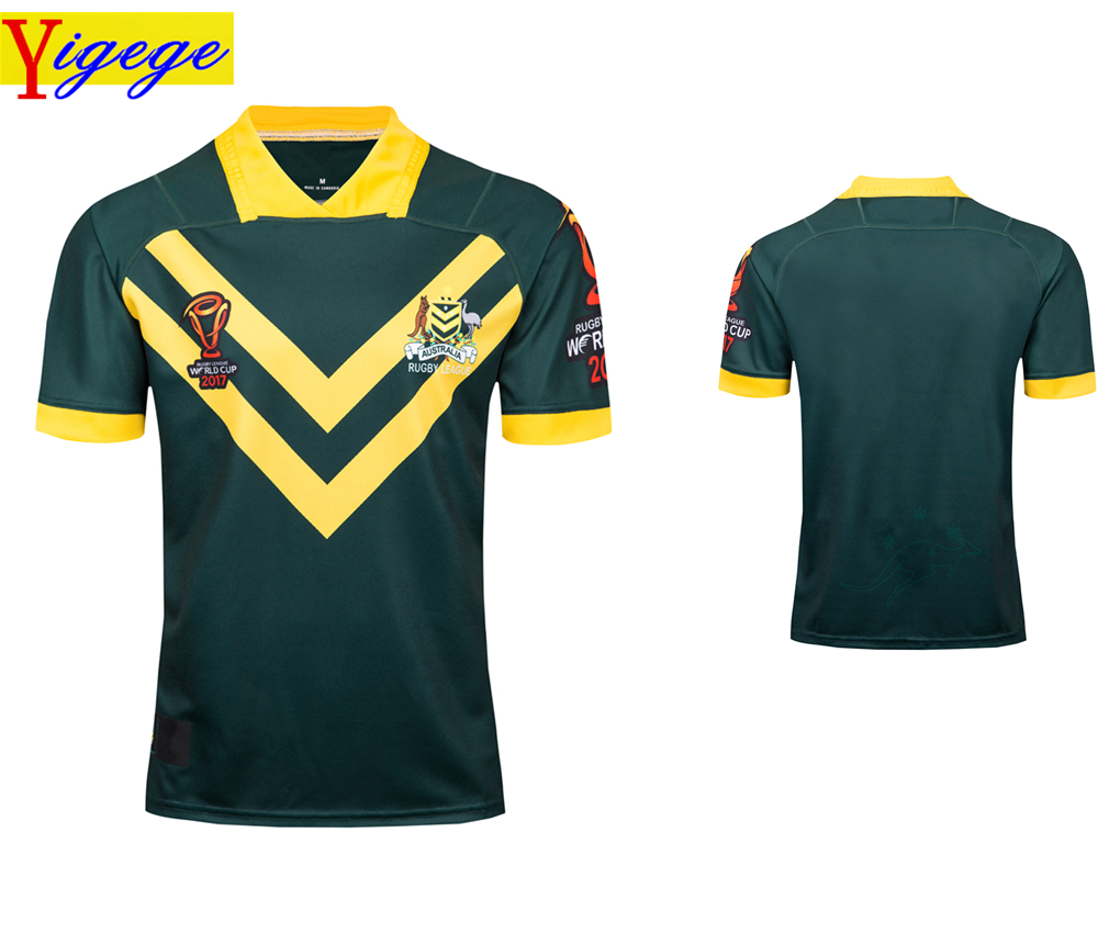 f861e516de3 Detail Feedback Questions about Yigege Australia rugby Jerseys 2017 World  Cup Rugby League shirt jersey shirts