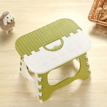 Folding Stool Plastic Durable Plastic Folding Step Stool Multi Purpose Step Stool Home Train Outdoor Storage Foldable K621(China)