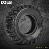 4PCS D1RC 1/8 Super Grip RC CRAWLER 3.2 Inch RC Thick Wheel Tires With Sponge For 1/8 Rc Crawler and 1/10 Axial wraith