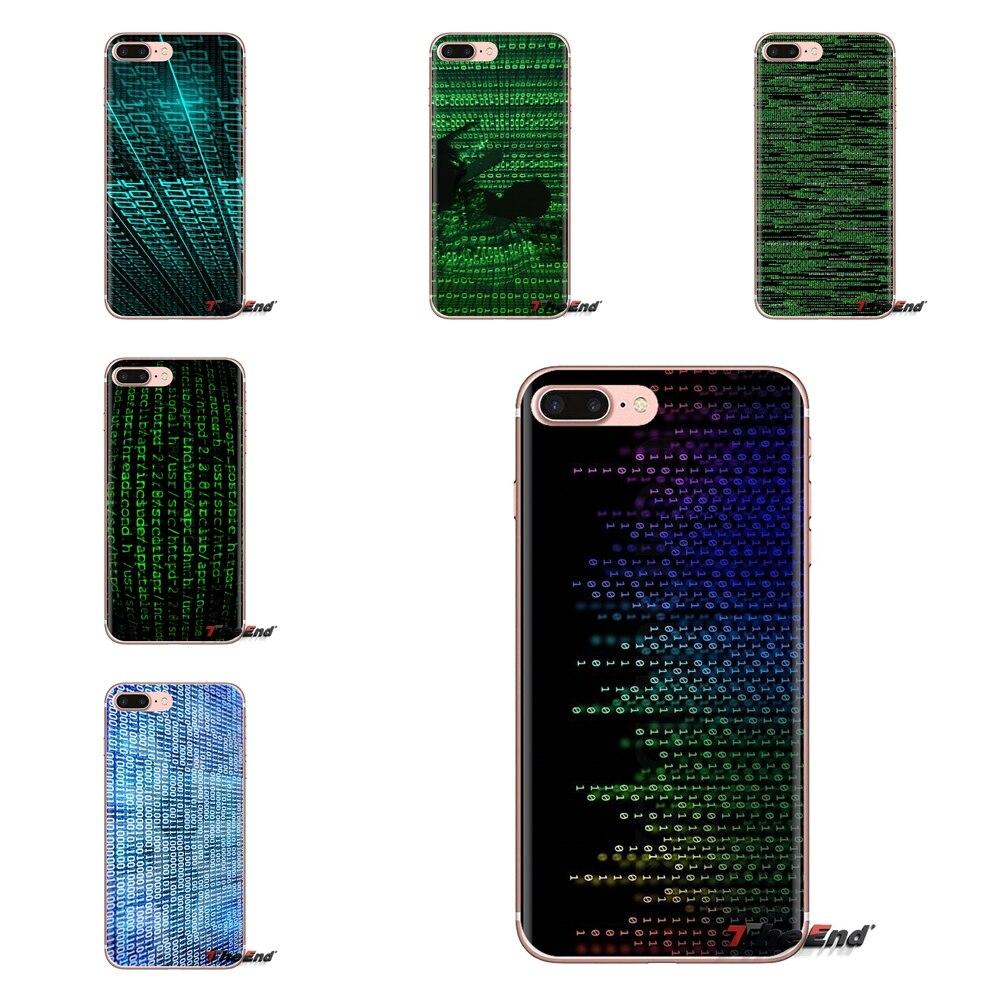 Calificado Suave Transparente Cubierta Para Ipod Touch Apple Iphone 4 4s 5 5s Se 5c 6 6 S 7 7 8 X Ilustración Abstracta De Código De Ordenador Xr Xs Plus Max