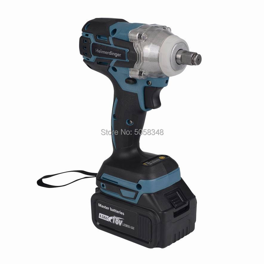 Wrench 4 Electric Lithium With Cordless Brushless Impact One 0Ah 18V Battery Rechargeable
