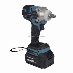 Electric Rechargeable Brushless Impact Wrench Cordless with one 18V 4.0Ah Lithium Battery