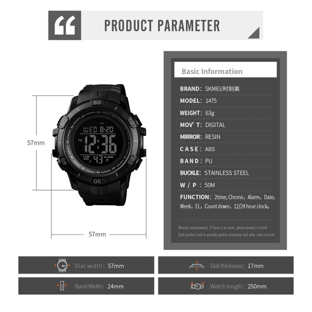 2019 New SKMEI Mens Sports Watches Fashion Outdoor Waterproof Digital Watch Men Military Wristwatches Hot Relogio Masculino 6