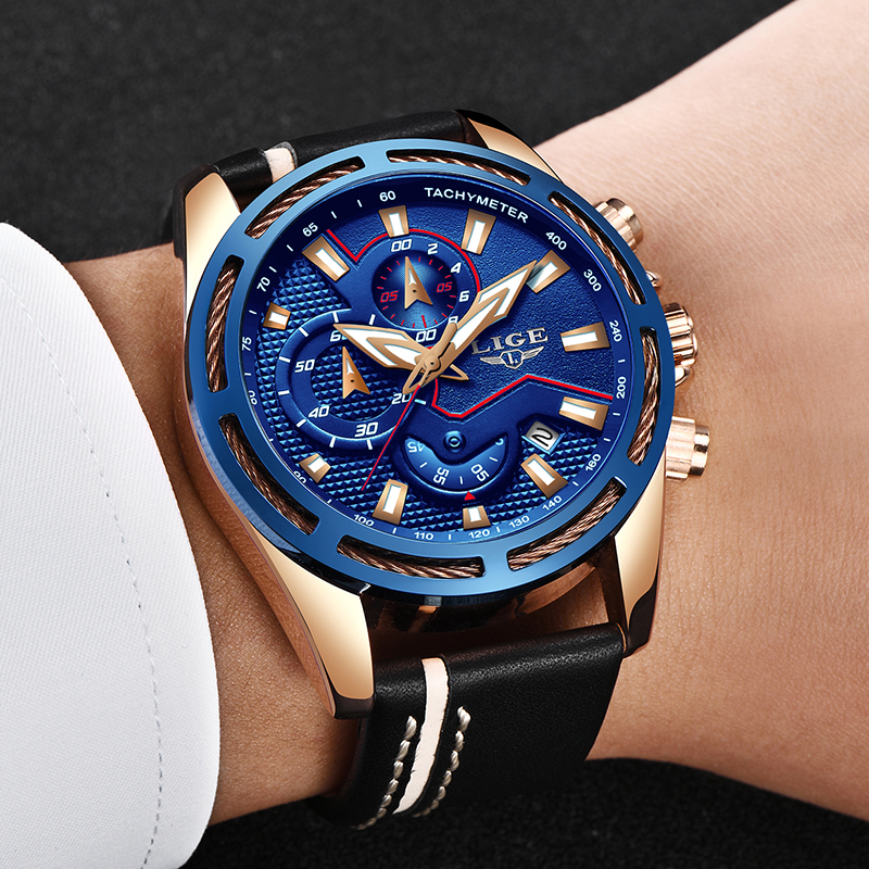 Relojes Hombre 2018 New LIGE Fashion Mens Watches Top Brand Luxury Business Quartz Watch Men Sport Waterproof Big Dial Clock+Box цена