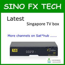 2016 Newest blackbox starhub singapore V8 Golden DVB-S2+T2/Cable V8 Golden for singapore