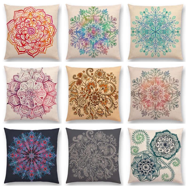 Forceful Ocean Style Whale Cushion Covers Modern Art Coastal Throw Pillow Cases Home Decor Waist Support Yoga Chair Narwhal Pillowcases Home & Garden Cushion Cover