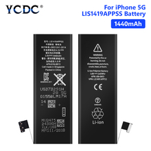YCDC Lithium Phone Real 3.8V 1440mAh Battery For Rechargeable Bateria iPhone 5 5G iPhone5 iP5 Batteries Free Tools