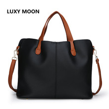 Luxy Moon New Women's Bag New Autumn Trend Wild Slanting Shoulder Bucket Bag Large Bag Lychee Pattern PU Retro Personality Style