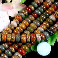 "Fashion jewelry 5X8MM Multi-color Picasso Jasper Gems loose beads Natural Stone 15""MY4322 Wholesale Price"