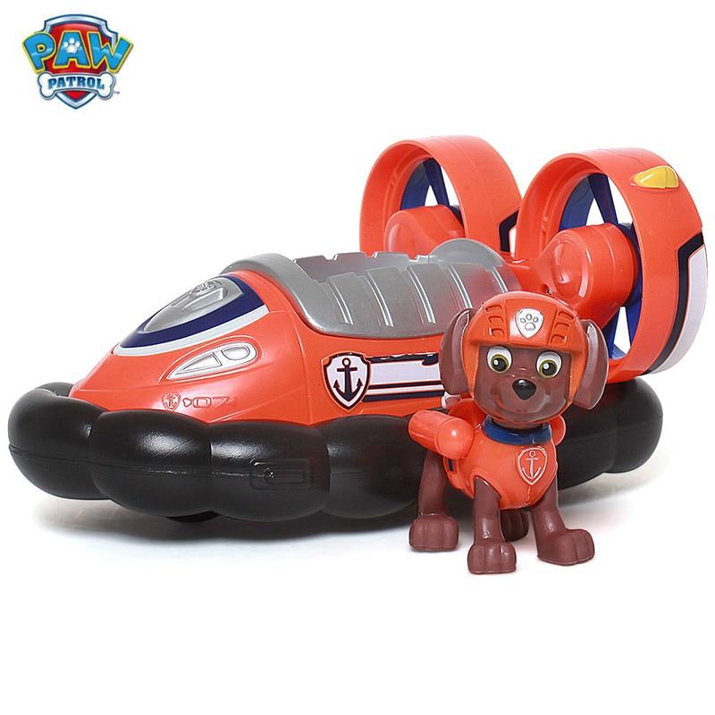 Натуральная Щенячий патруль собака автомобиль зума спасателя и фигура игрушка Щенок патрульная машина patrulla детские игрушки подарки