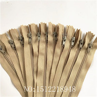 50pcs ( 12 Inch ) 30cm Khaki Nylon Coil Zippers Tailor Sewer Craft Crafter's &FGDQRS #3 Closed End