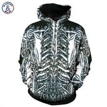 Mr 1991INC New Fashion Men women Hoodies With Cap Print Skulls Skeleton Hoody Autumn Winter Tops