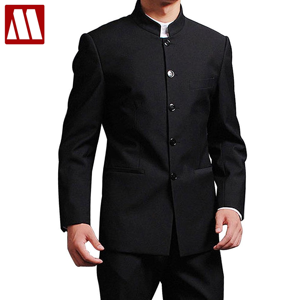 MYDBSH Jacket Men Formal Business Suits Black Plus Size