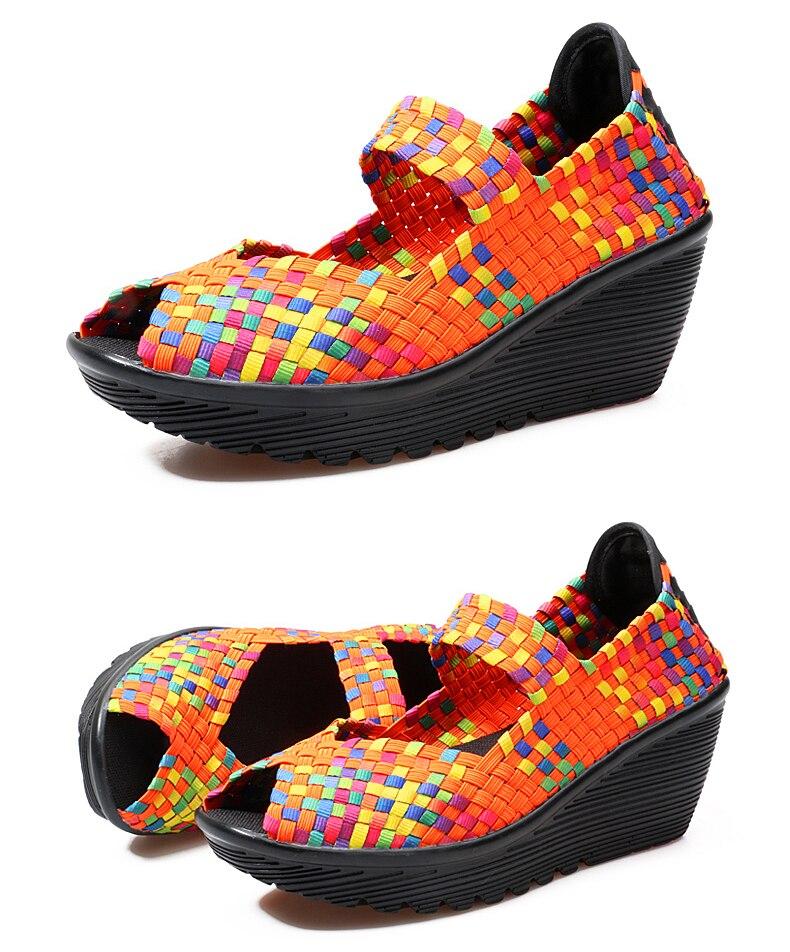 peep toe tecido cunha sapatos de plástico