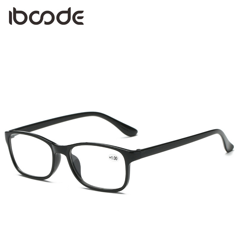 Iboode HD Resin Glasses For Elders Unisex Men Women Ultra Light Reading Glasses TR90 +100 +150 +200 +250 +300 +350 +400