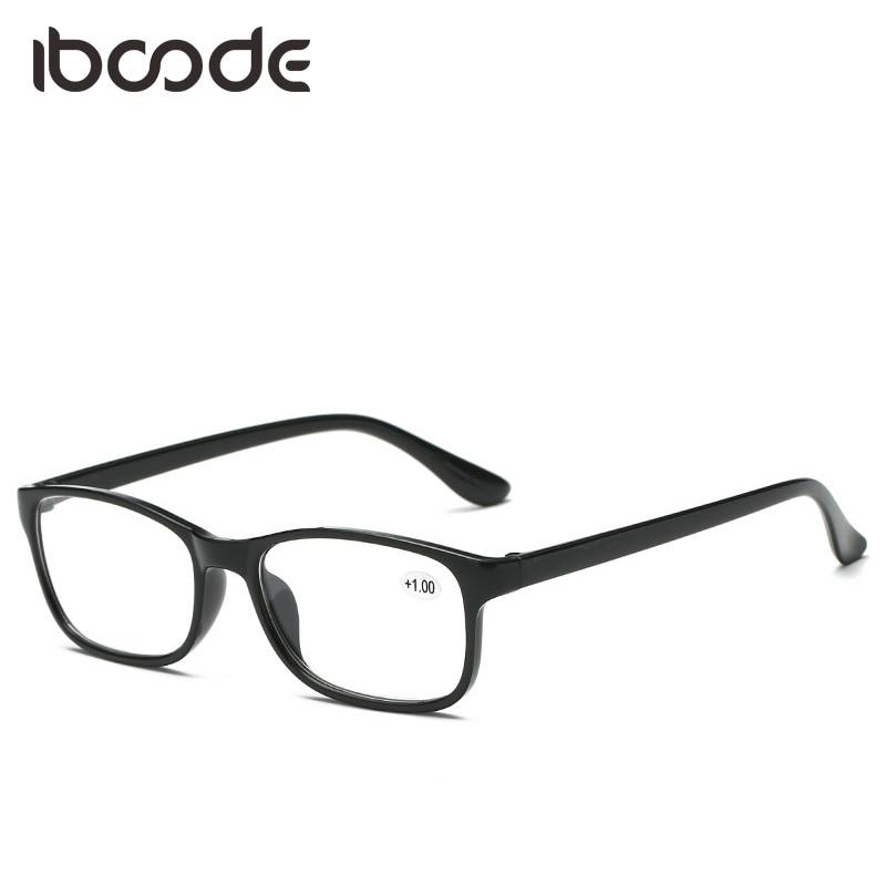 iboode HD Resin Glasses for Elders Unisex Men Women Ultra Light Reading Glasses TR90 +100 +150 +200 +250 +300 +350 +400