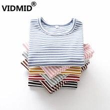 VIDMID/Детские футболки для девочек хлопковая футболка с длинными рукавами детские топы с радугой для девочек, детские футболки, одежда для детей возрастом от 3 до 8 лет, 2001 13