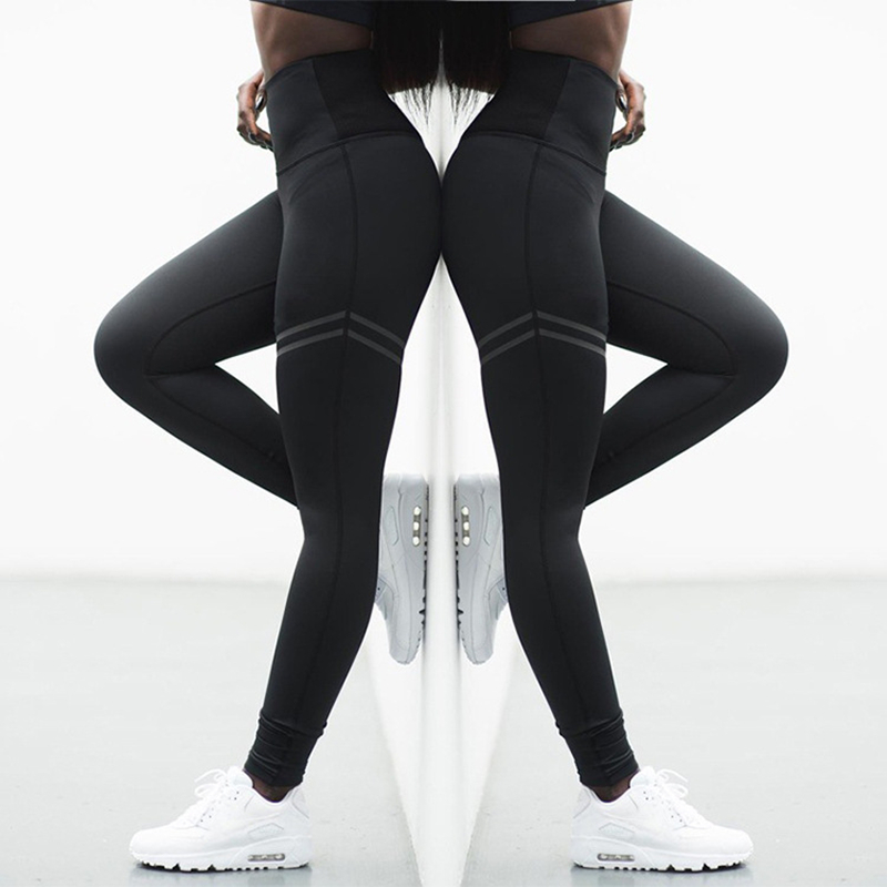 f0f65ad715 Fashion Workout Leggings Women High Waist Leggings Fitness Legging  Polyester Breathable Patchwork Clothing Jeggings 3 Colors