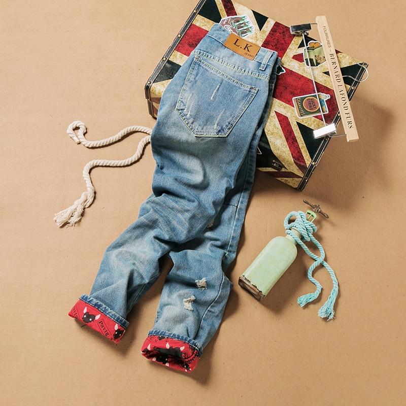 2019 Retro Fashion Slim Skinny Jeans Hombre Solid Casual Jeans rectos - Ropa de hombre - foto 4