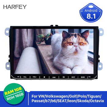 "Harfey 9"" 2din Car Autoradio For VW Volkswagen Golf Polo Tiguan Passa MK5 MK6 Jetta Touran Seat Android 8.1 car GPS CANBUS 3G"