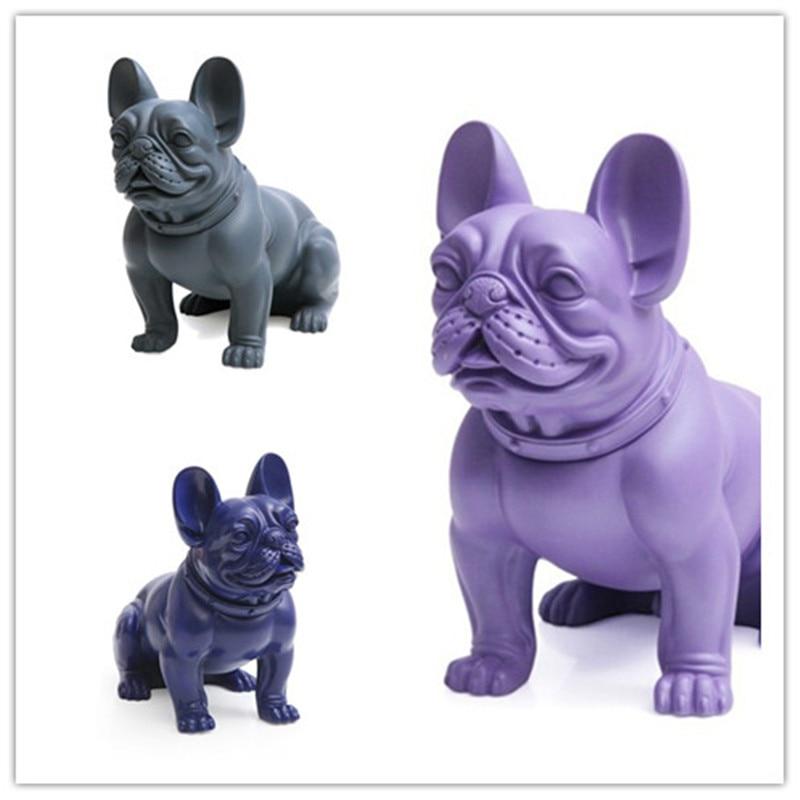 Personality Simulation Bulldog Dogs Home Showcase Decoration Cute Animals Statue Creative Cartoon Artware Mascot Gift L1830