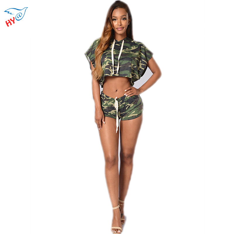 Camouflage Crop Top And Skirt Set Woman 2 two Piece Set Bodycon Jumpsuit Women Sexy Bodysuits Rompers Hoodies Elegant For Office