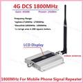 Display LCD!!! Mini 2G 4G LTE GSM DCS 1800 MHZ Sinal de Celular Repetidor, GSM DCS 1800 MHz celular signal booster + Interior Antenn