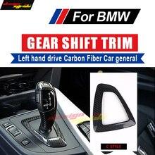 купить For BMW E81 E87 Gear Shift Knob Cover trim Carbon E82 E88 F20 118i 135i 130i 128i 125i Left drive Shift Knob Cover trim C-style дешево