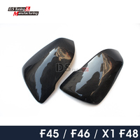 X1 F48 Replacement Carbon Fiber Side Door Mirror Cover Caps For BMW 2 Series F45 F46