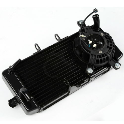Motorcycle Aluminium Radiator Cooling Cooler With Fan For Suzuki GW250 GW 250 2012 2014 2013