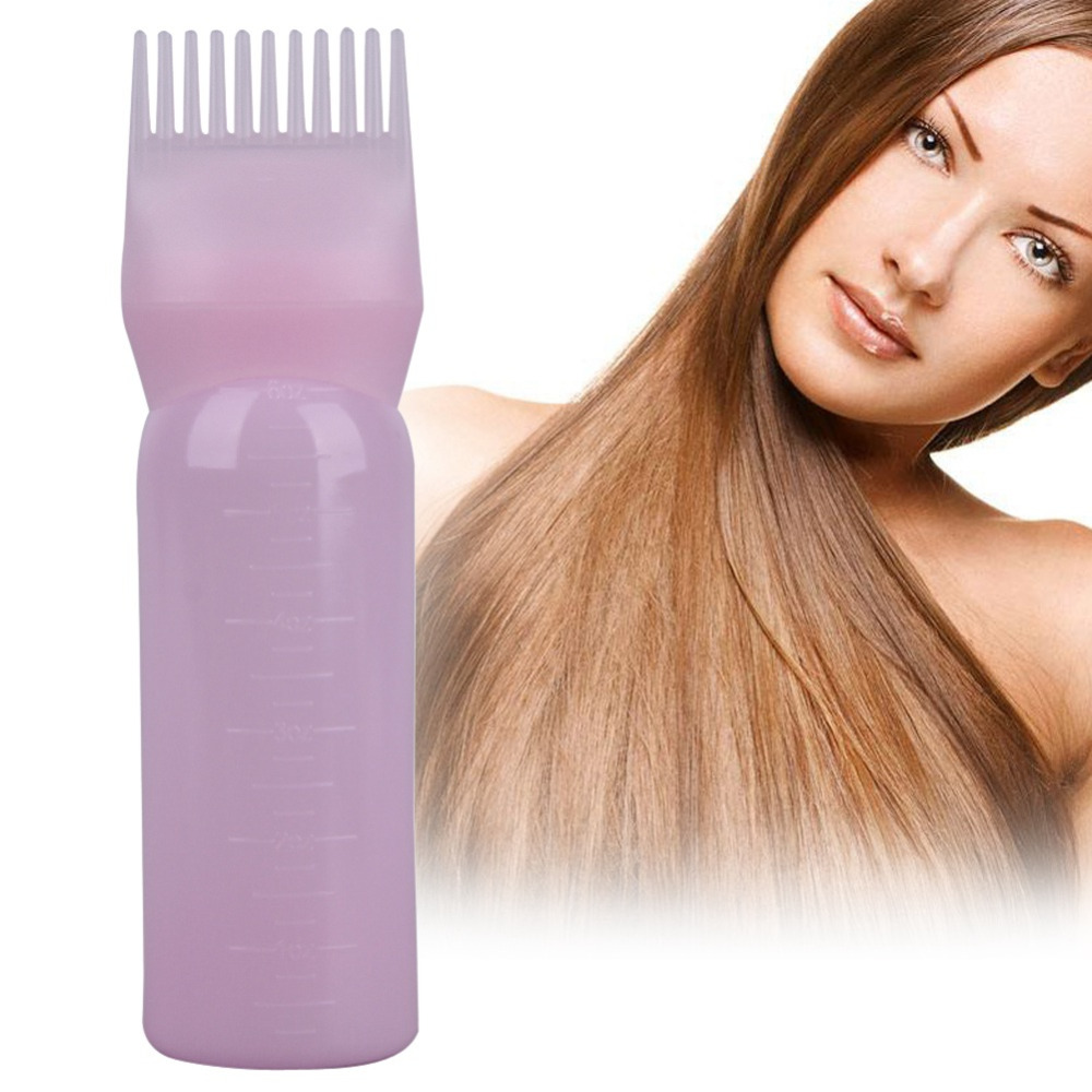 120ml Salon Hair Dye Bottles Applicator Brush Dispenser Kit With