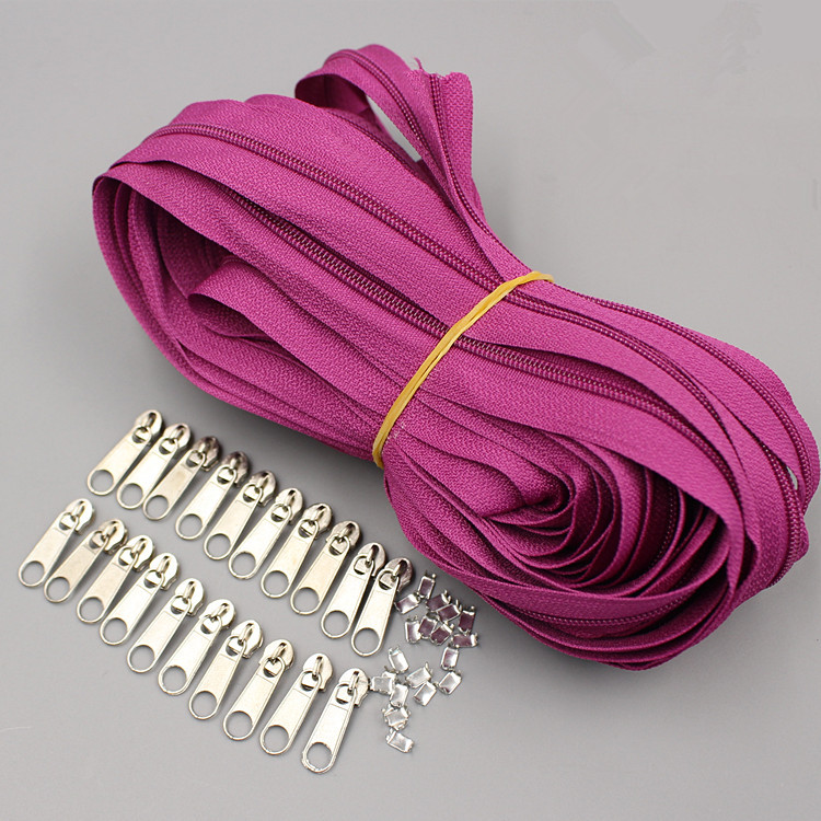 Aliexpress Com Buy Suoja Purple Color Meter Long Zipper