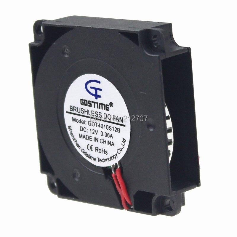 2 шт Gdstime 3d принтер вентилятор 40 мм 12 В 4010 турбо вентилятор Охлаждающие вентиляторы с кабелем 120 см