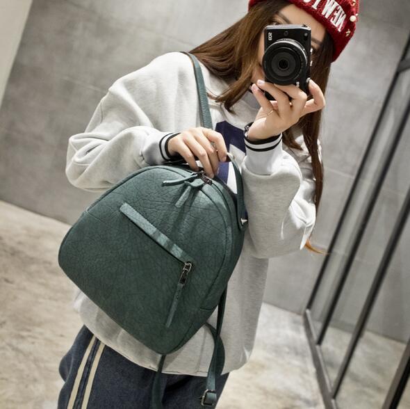 2016 лето новый простой моды диких сумка качество pu кожа женщины сумка ретро матовые трещина мини рюкзак сумка