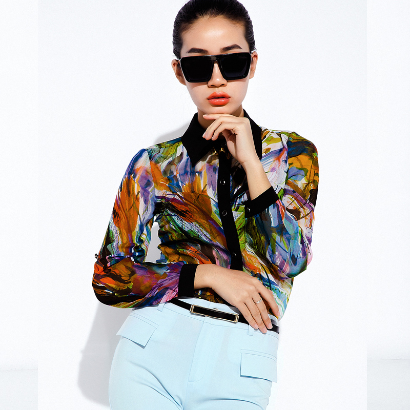 2018 New Spring Autumn Women Shirts Long Sleeve Work Shirts Women Office Lady's Tops Blouse for Business