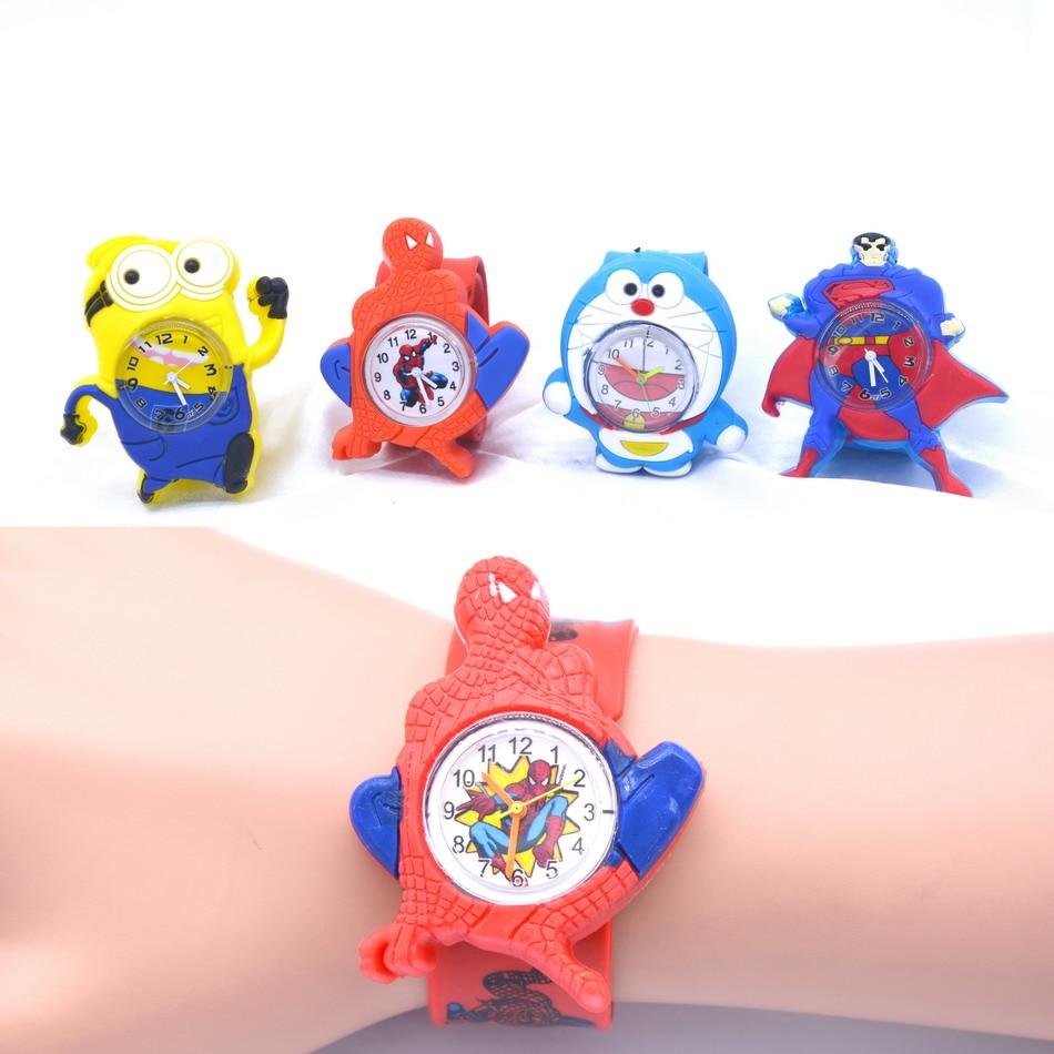 3D Cartoon Watches For Kids Children Gift Sports Boys Girls Silicone Slap Wristwatch Montre Enfants