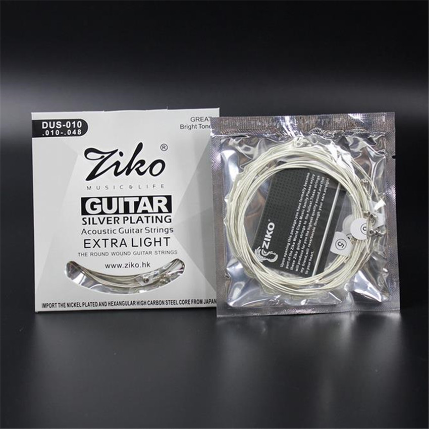 ZIKO 010-048 DUS-010 Acoustic guitar strings silver plating guitar parts musical instruments Accessories 010 albatre