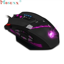 Beautiful Gift New Zelotes C 12 Programmable Buttons LED Optical USB Gaming Mouse Mice 4000 DPI