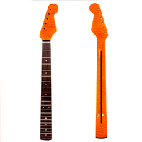 Guitar Neck For Strat Style Neck Tiger Flame Maple 22 Fret Rosewood Clear Gloss