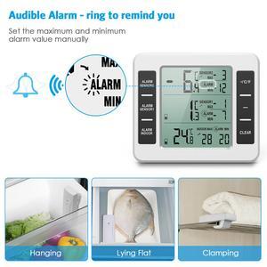 Image 4 - ORIA LCD אלחוטי דיגיטלי מדחום מקרר שלט רחוק מטבח טמפרטורת מדחום מקורה חיצוני עם מעורר