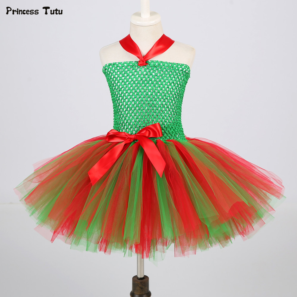 54f6025a41b Online Shop Children Girls Christmas Dress Kids Tulle New Year Clothes  Fancy Princess Ball Gown Baby Girl Xmas Party Tutu Dress Costumes