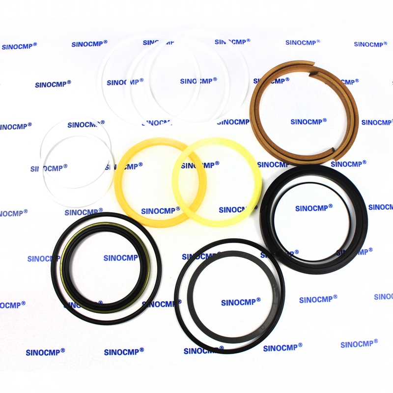 2 sets For Hyundai R180LC-7 Boom Cylinder Repair Seal Kit 31Y1-20430 Excavator Service Kit, 3 month warranty 2 sets for hyundai r360lc 7 boom cylinder repair seal kit 31y1 20910 excavator service kit 3 month warranty