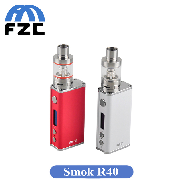 Pretty Electronic Cigarette SMOK R40 Box Mod Kit 40W Vape Electronic Hookah Shisha Pen E-cigarette Vaporizer TFV4 Basic Atomizer