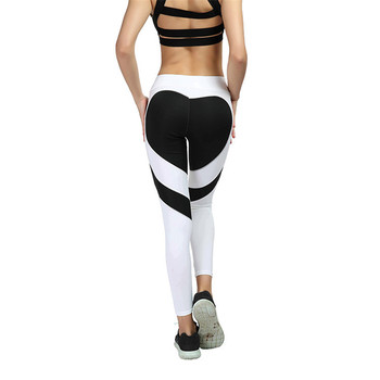 VIIANLES Fitness Legging Love Stitching Leggings Put Hip Elastic Waist Leggins High Waist Pants Stitching XXXL Large Size Pants 1