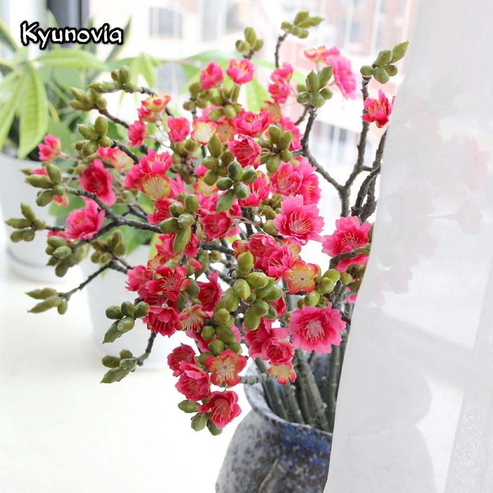 Kyunovia 3 Branch Silk Japanese Cherry Artificial Decorative Sakura