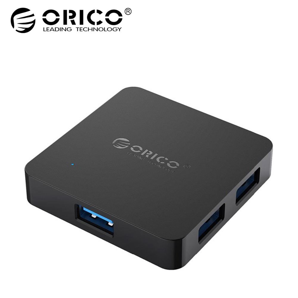 цена на ORICO Super Speed 4 Port USB HUB 3.0 Portable OTG HUB USB Splitter with Micro B Power Port for Apple Macbook Laptop PC Tablet