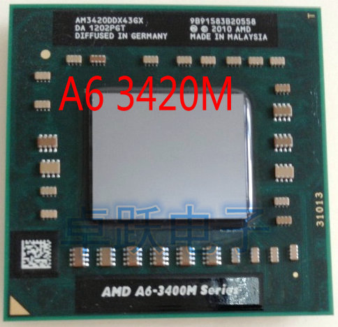 original AMD CPU A6 3420M AM3420DDX43GX A6 3420M  processor laptop a6 3400m free shipping-in CPUs from Computer & Office on
