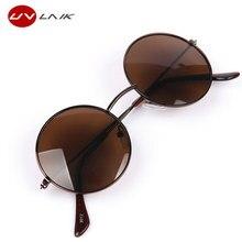UVLAIK Newest Female Male Round Black Retro Sunglasses Beauty Vintage Original Brand Circle Women Men Sun